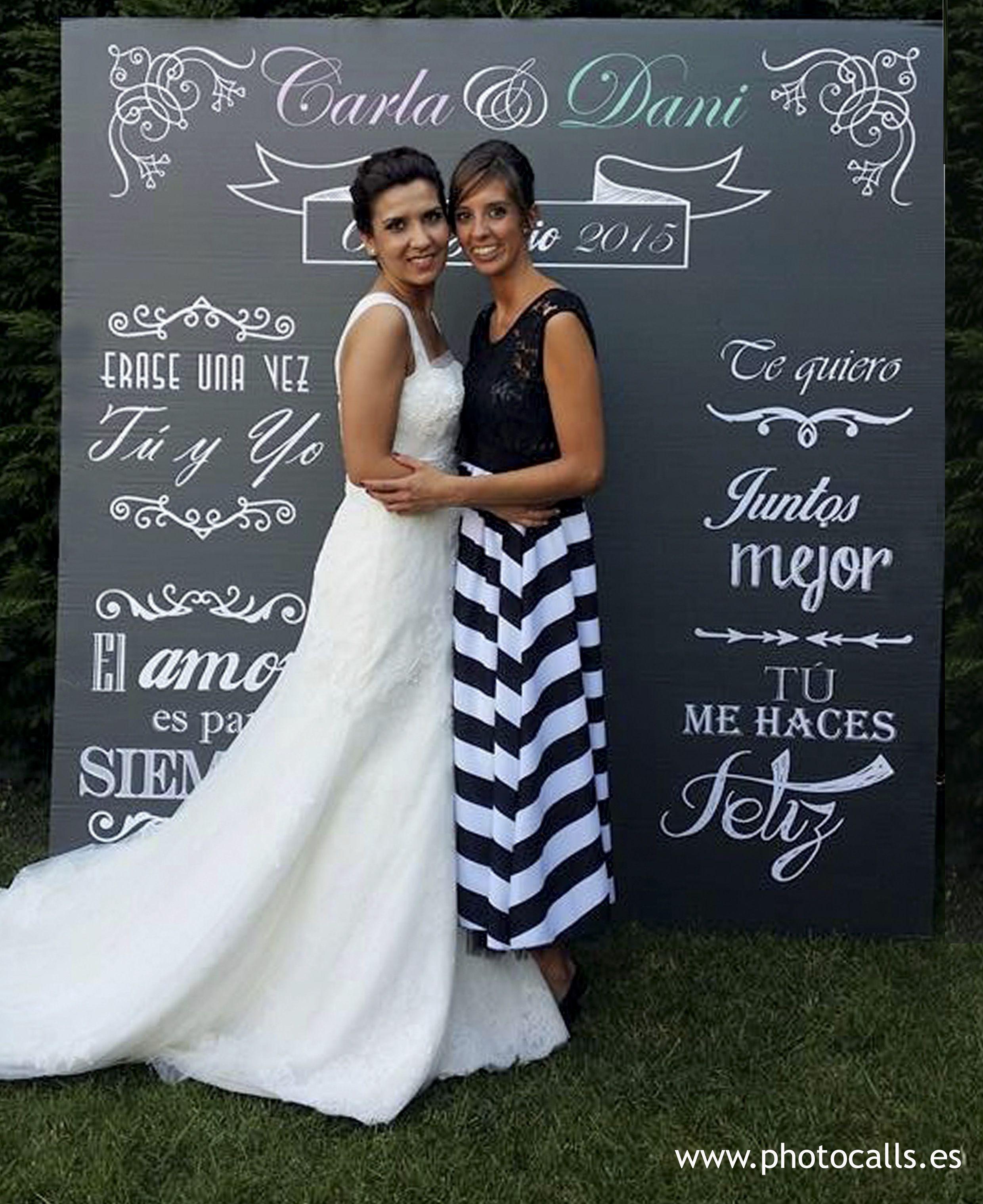 Photocall tiza photocall boda boda wedding photobooth for Fotocol de bodas