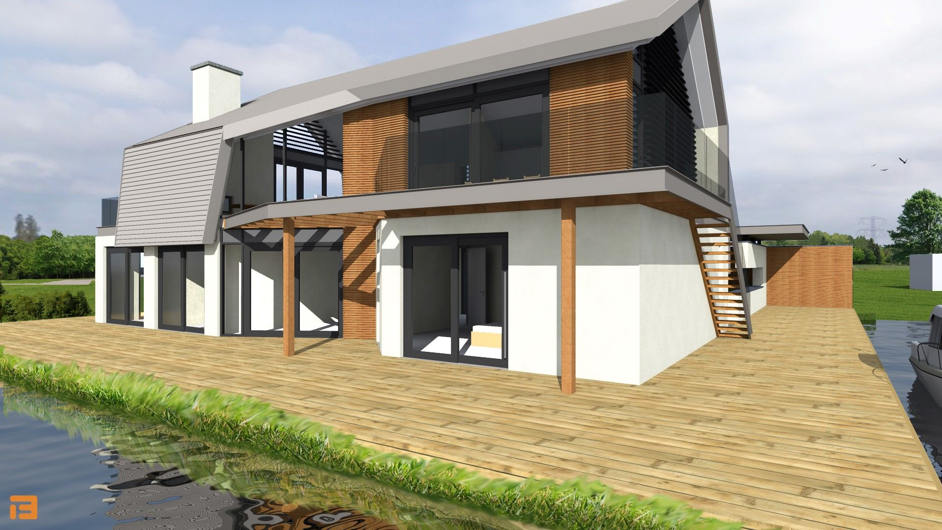 Residential project in Monster, Netherlands Modern and luxurious house desing