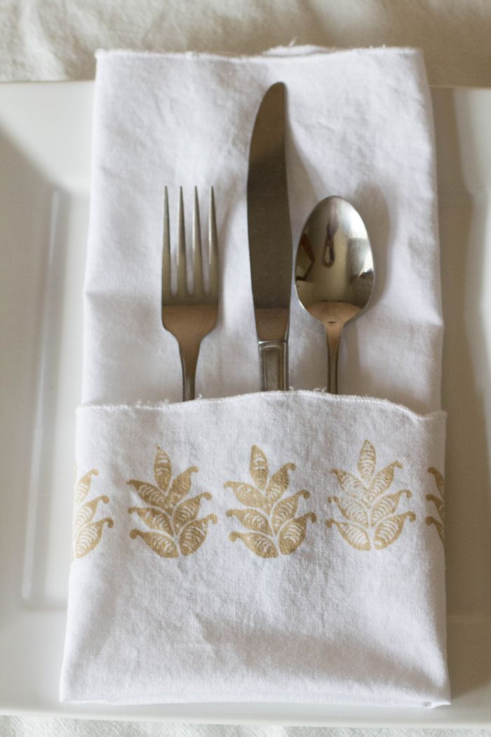 Diy Block Print Wedding Napkins With New Fabric Creations Soft Paint And Stamps