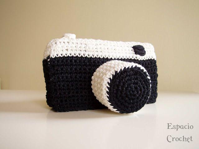 Espacio Crochet - camara fotografica a crochet!