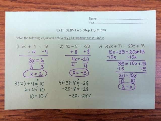 Amazing Simple 2 Step Equations Worksheet Gallery - Math Worksheets ...