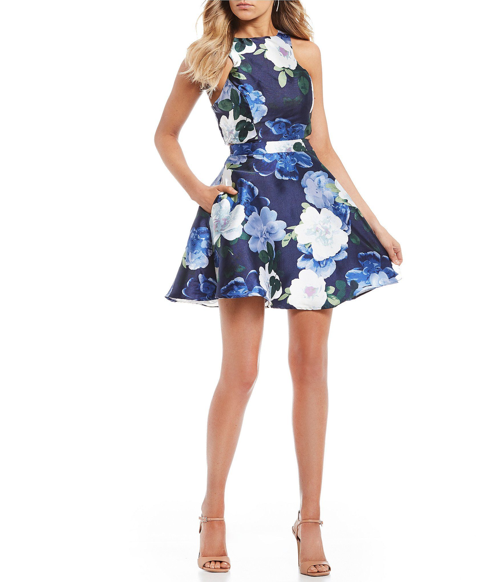 53d83bc39 Shop for Xtraordinary Floral Print Side Cut Out Fit-and-Flare Dress at  Dillards.com. Visit Dillards.com to find clothing, accessories, shoes, ...