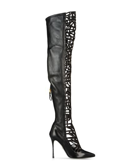 Sergio Rossi - Azteca - Women boots with lace front. 10.5 cm heels. WOW