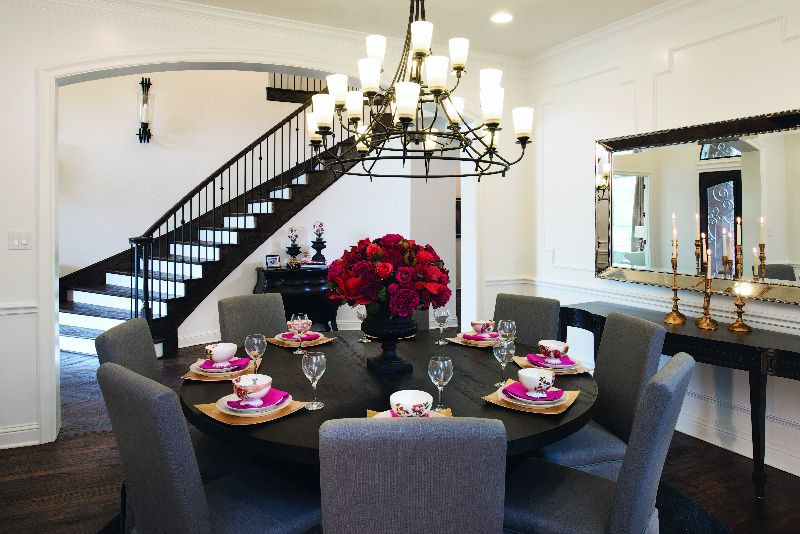 Texas New Homes For Sale In Toll Brothers Luxury Communities Elegant Table Settings New Homes Dining Room Design