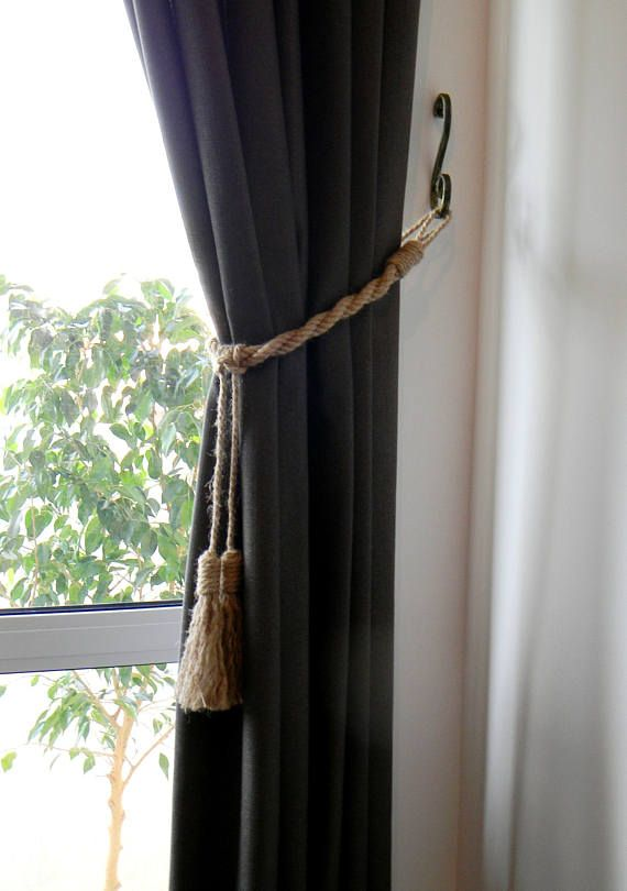 Nautical Curtain Tiebacks Tassel Curtain Tie Backs Shabby Chic
