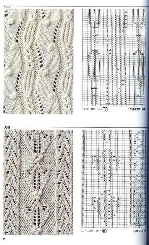 Ð¯Ð¿Ð¾Ð½Ñ ÐºÐ°Ñ ÐºÐ½Ð¸Ð³Ð° узоров (Ñ Ð¿Ð¸Ñ†Ñ‹) 057 | Knitting ...