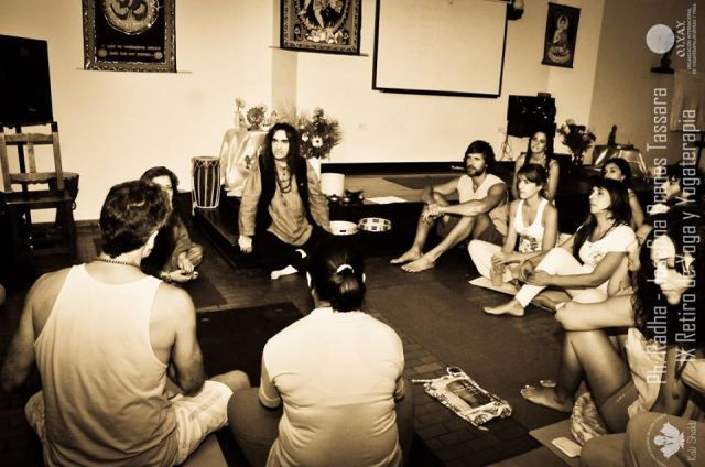 Mahatma Krishananda in Centro Internacional de Yoga Integral Kali-Shakti, Mar del Plata, Argentina.