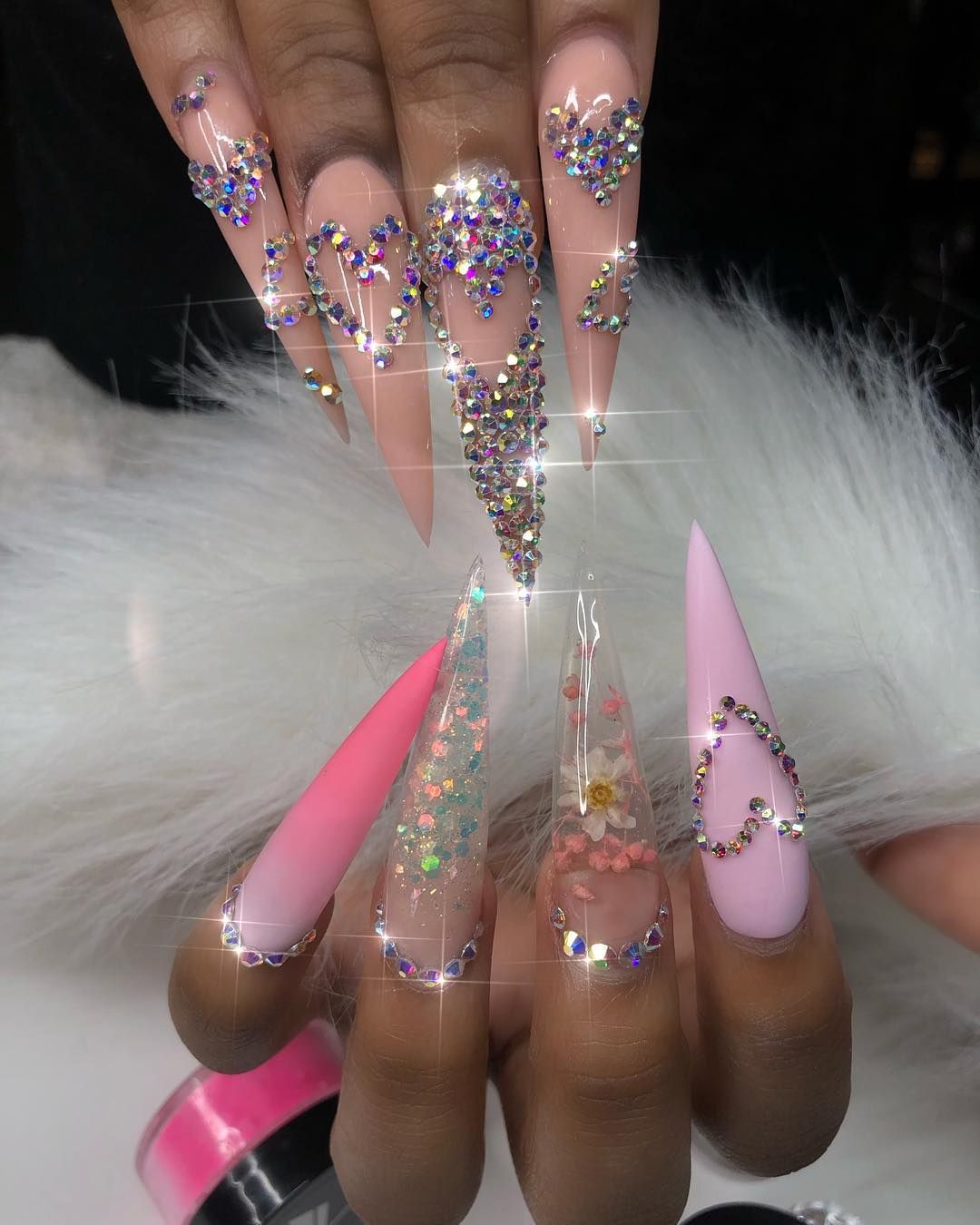 Queenofnails On Instagram Just Whipped These Up On My Girl Glokashy I Bet Sh Cute Acrylic Nail Designs Cute Acrylic Nails Acrylic Nail Designs