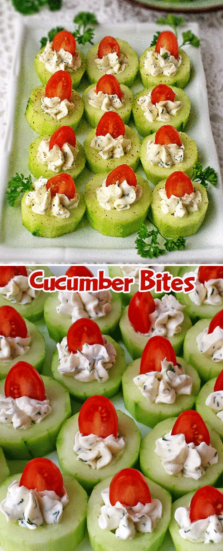 Healthy Christmas Appetizers Pinterest Cucumber Bites Beaufood Pinterest Cucumber Bites