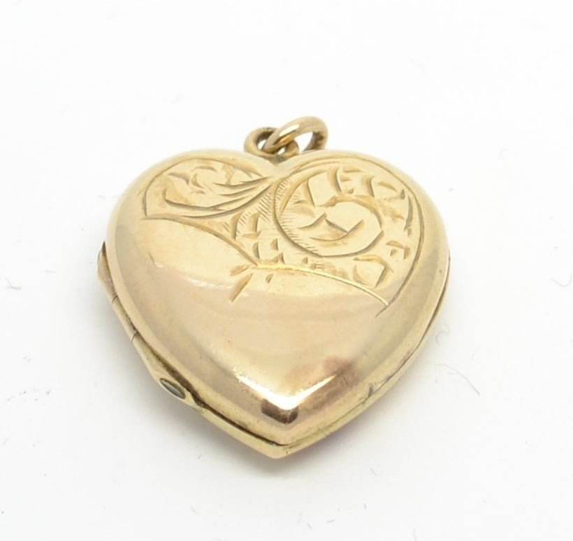 £58 eBay .....Beautiful Vintage 9ct Gold Back and Front Heart Locket
