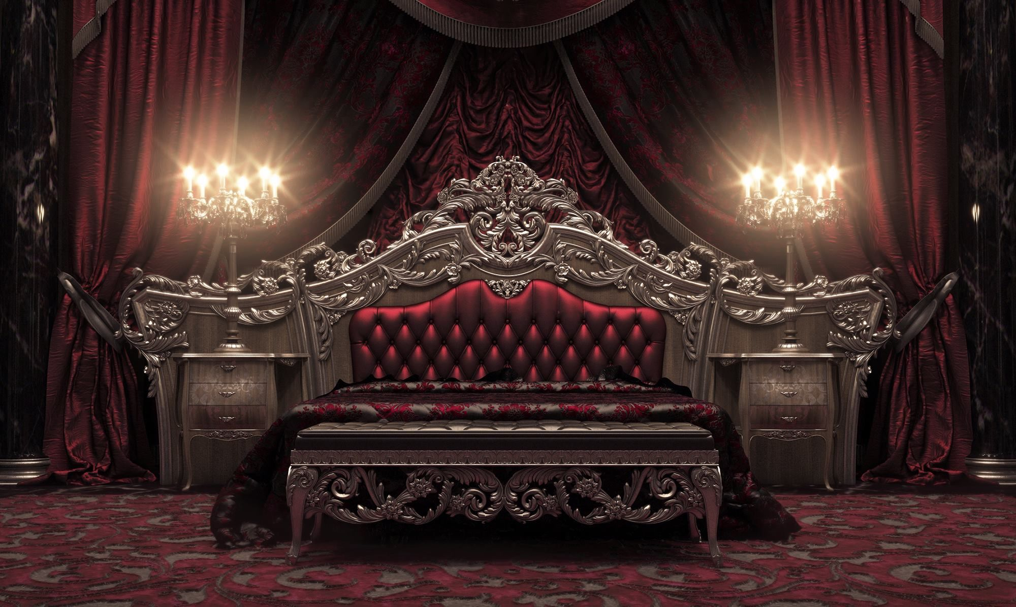 European Style Luxury Imperial Wood Carved Bedroom Set Top Quality ...