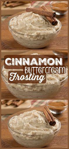 Cinnamon Buttercream Frosting #cupcakefrostingtips