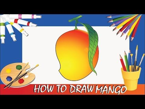 Learn How To Draw With View Fun How To Draw A Mango Poster Color Colorful Drawings Drawings Photography Prints Art