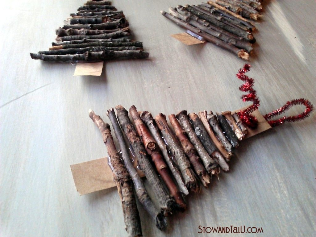Rustic Twig Christmas Tree Ornaments Stow Tellu Rustic Christmas Crafts Cardboard Christmas Tree Homemade Christmas Decorations