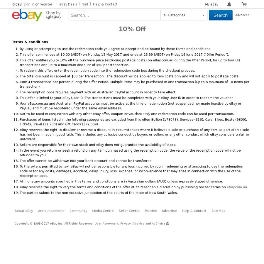 advertising terms and conditions template - ebay 10 off site wide or 10 off hot deals pinterest