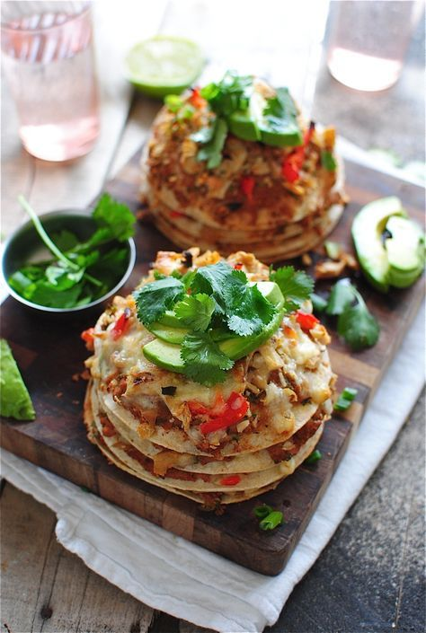 Chicken Taco Stacks | Food, Food presentation, Mexican ...