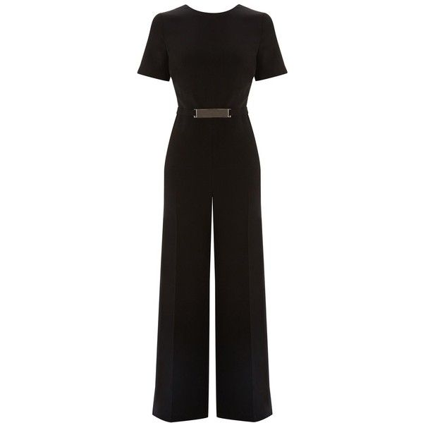 53116ad81bfe Warehouse Belted Detail Jumpsuit ( 90) ❤ liked on Polyvore featuring  jumpsuits
