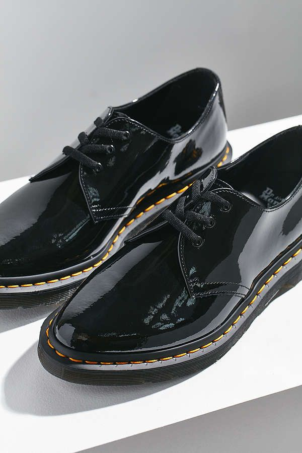 Dr Martens Dupree Patent Leather 3 Eye Shoe Oxford Shoes Patent Leather Oxfords Women High Heels Pump
