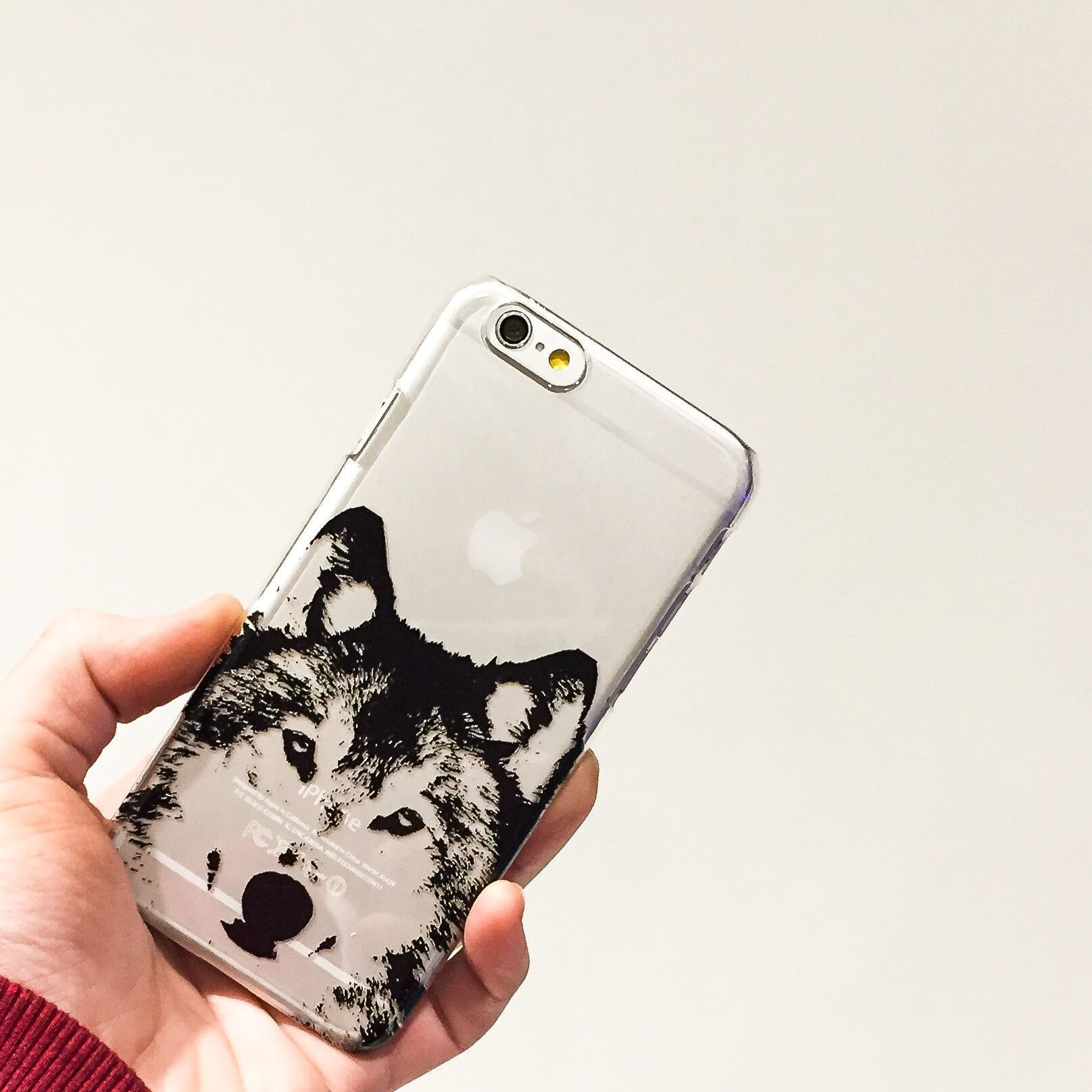 Henna Wolf Clear TPU Case Cover Iphone, Phone cases