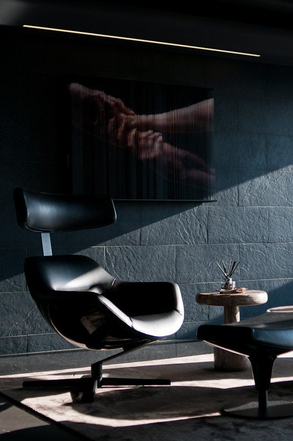 Skyfall Apartment Design By Studio Omerta With Images Lounge Chair Design Stylish Office