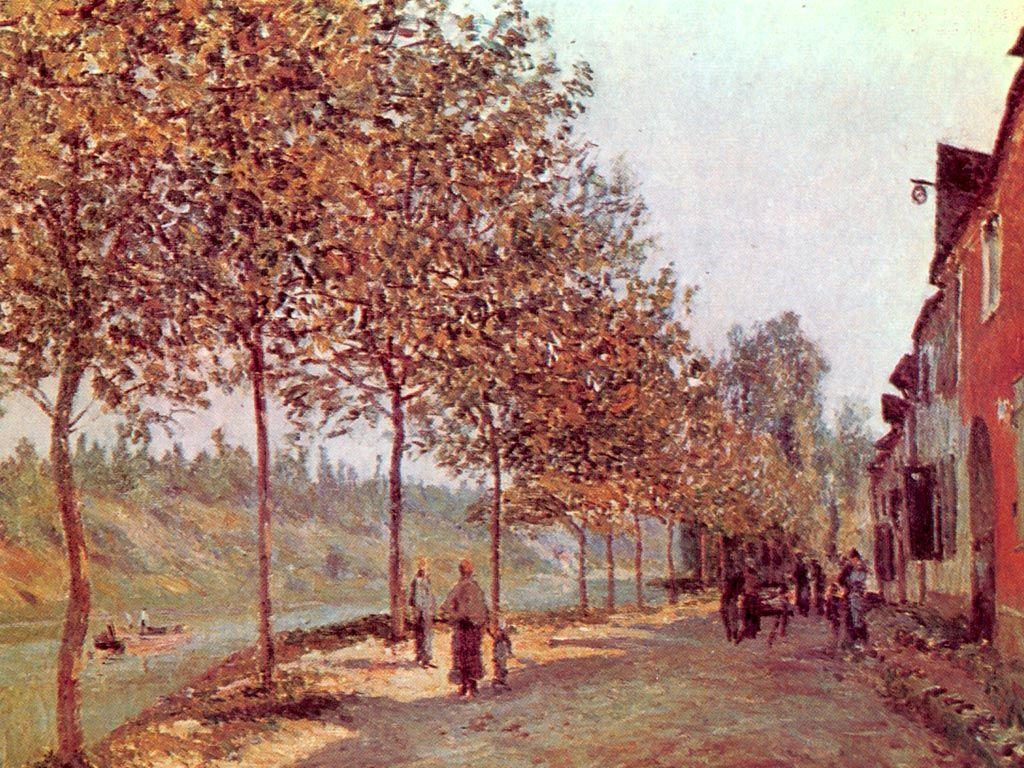The Factory At Sevres Alfred Sisley Impressionist Landscape Impressionism Landscape