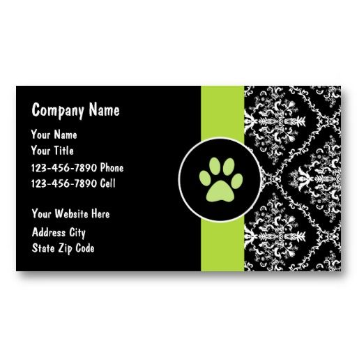 Pet Care Business Cards Zazzle Com Pet Care Business Pet Businesses Magnetic Business Cards