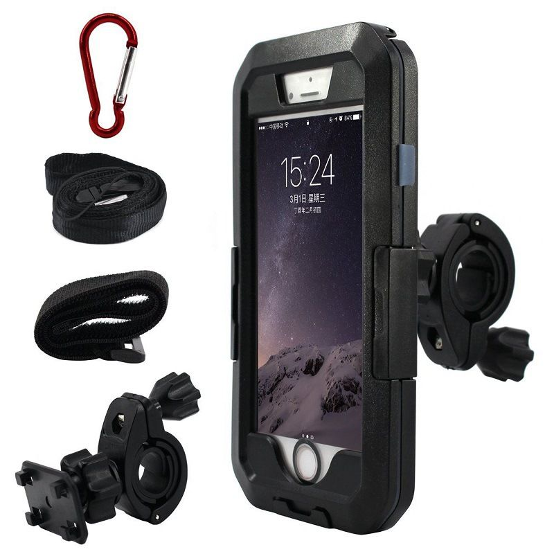 3 Size Bicycle Motorcycle Bike Phone GPS Waterproof Case Holder Handlebar Mount