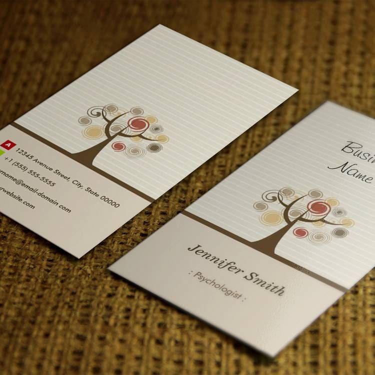 Psychologist - Stylish Natural Theme Business Cards | Custom ...