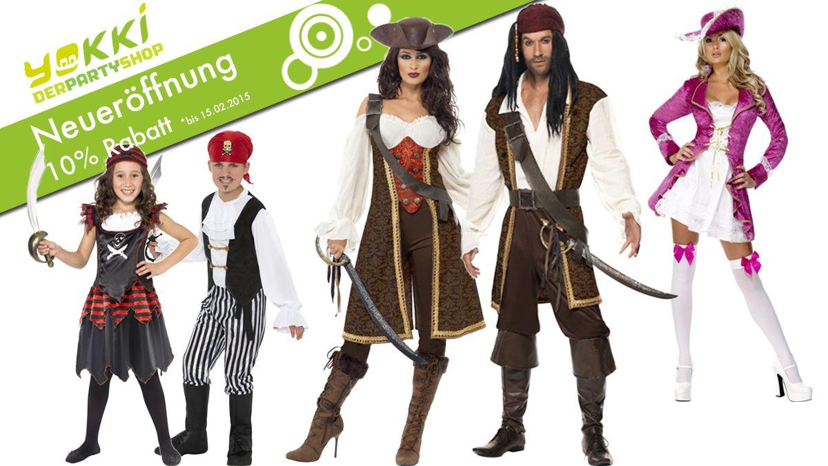 Piratenkostüme für Pirat und Piratin   yokki • Partyshop Rodgau bei ...