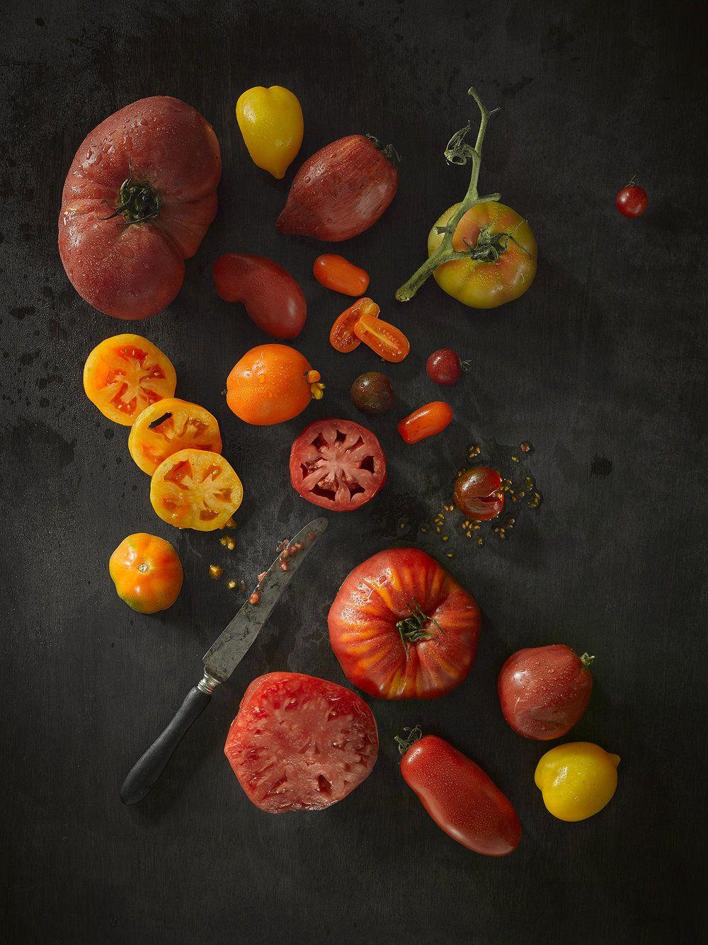 Food Photography Mixed Tomatoes Create This Still Life Food