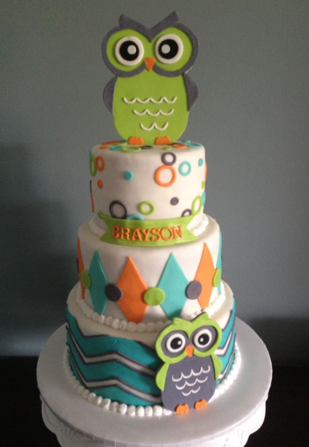 by MelaMang75 Pink Hoot Owl Cake Owl Cake Childrens Birthday