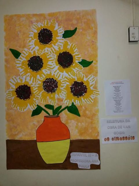 Adesivos De Parede Westwing ~ Aula Artes Van Gogh Releitura de Obra Os Girassóis