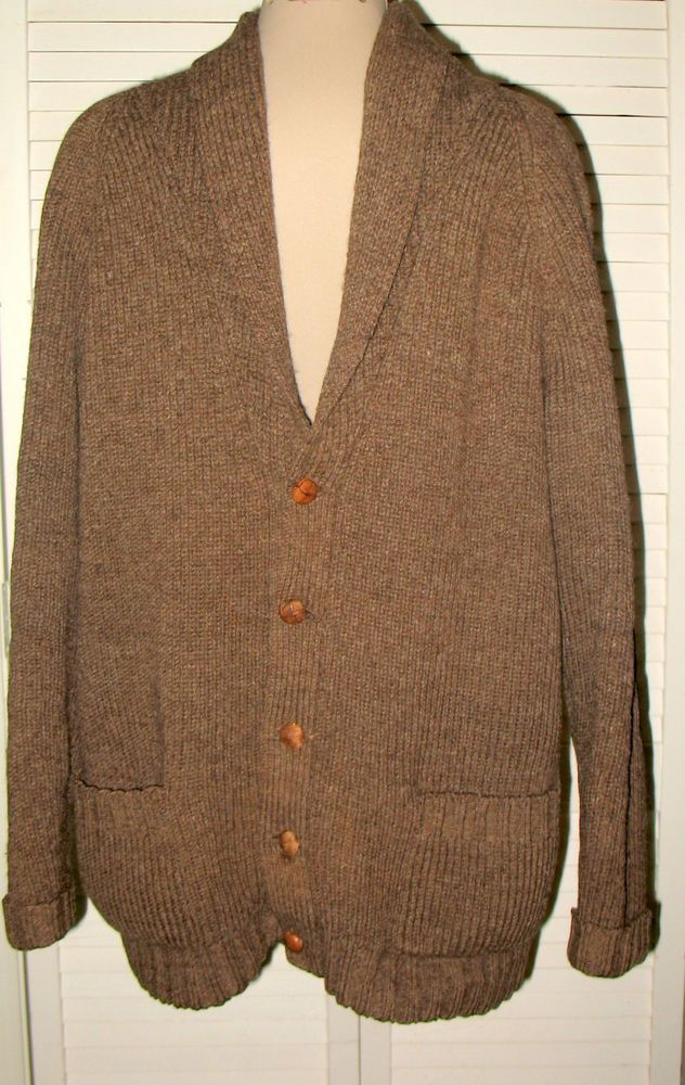 FRENCH CREEK SHEEP & WOOL Greasewool Sweater Coat Men's L Heather ...