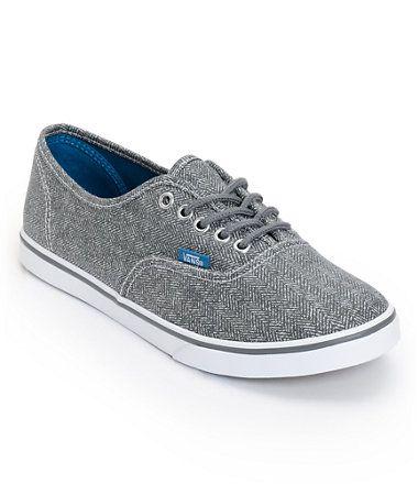 ff67fe999ef Vans Girls Authentic Lo Pro Castlerock Grey HB Print Shoe at Zumiez   PDP