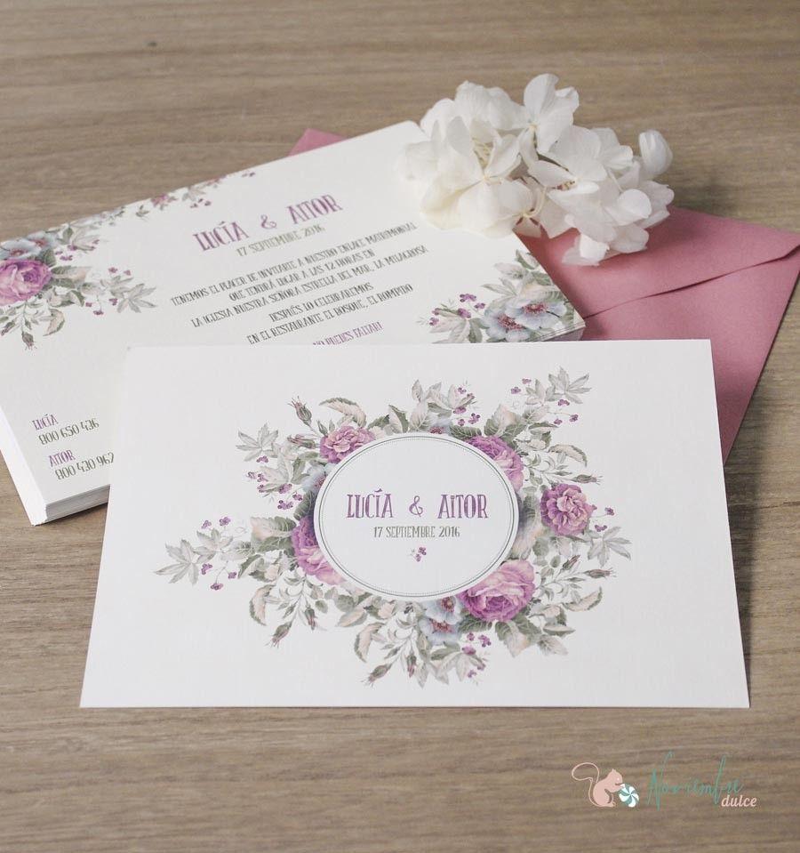 Invitación Jardín De Rosas Invitaciones De Boda