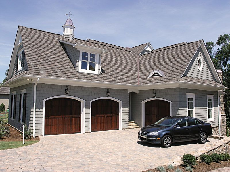 Well planned garage layout plan 129s 0008 for Luxury garage plans