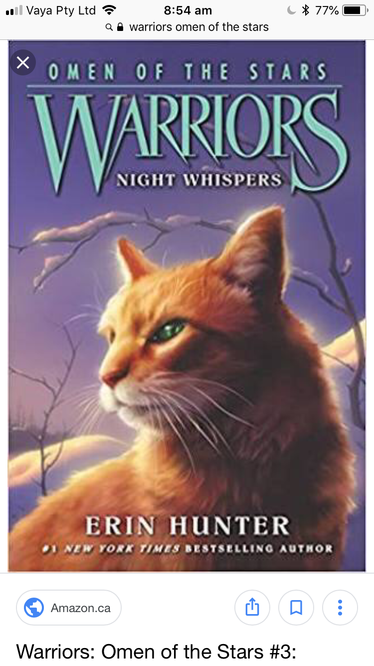 Pin by Dawnstar on Warrior cat books Night whispers