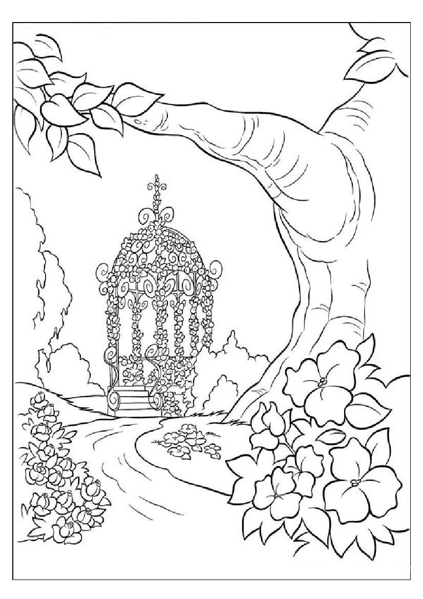 Drawing pages of nature - Nature Coloring Pages For Adults Coloring Pages Of Save Environment Save