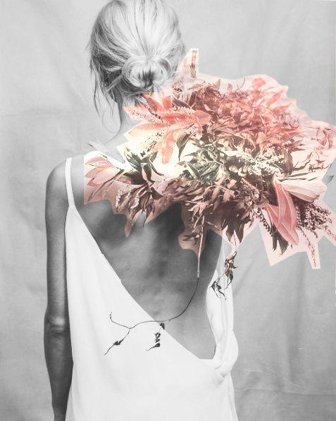 Love the original!  Inspiration: Floral Elegance - black & white fashion photography on http://lacooletchic.tumblr.com/post/143791016182