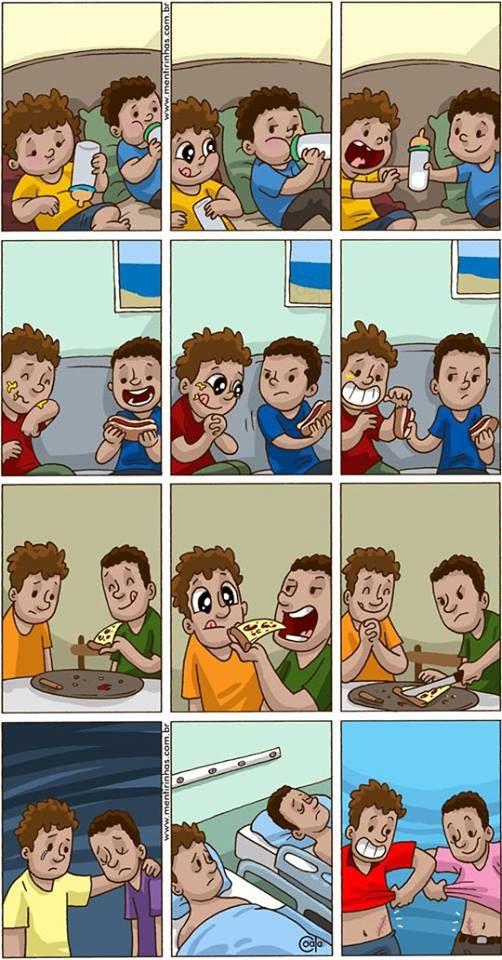 Sahabat sejati (Dengan gambar) Komik lucu, Komik, Kartun