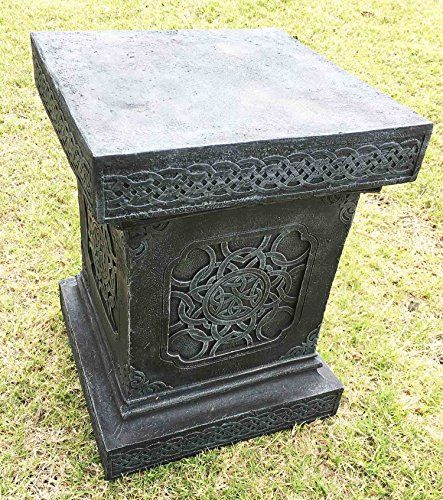 large celtic knotwork pedestal 20 tall home patio garden for pots