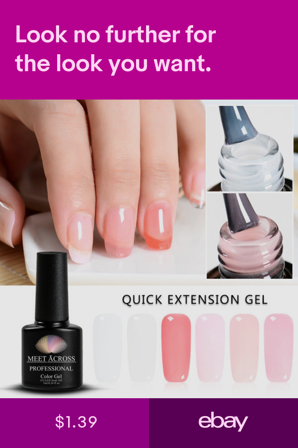 Manicure Extension Kit Nail Builder Uv Gel Polish Quick Building Set Meet Across Nails Nail Fungus Remedy Gel Nails