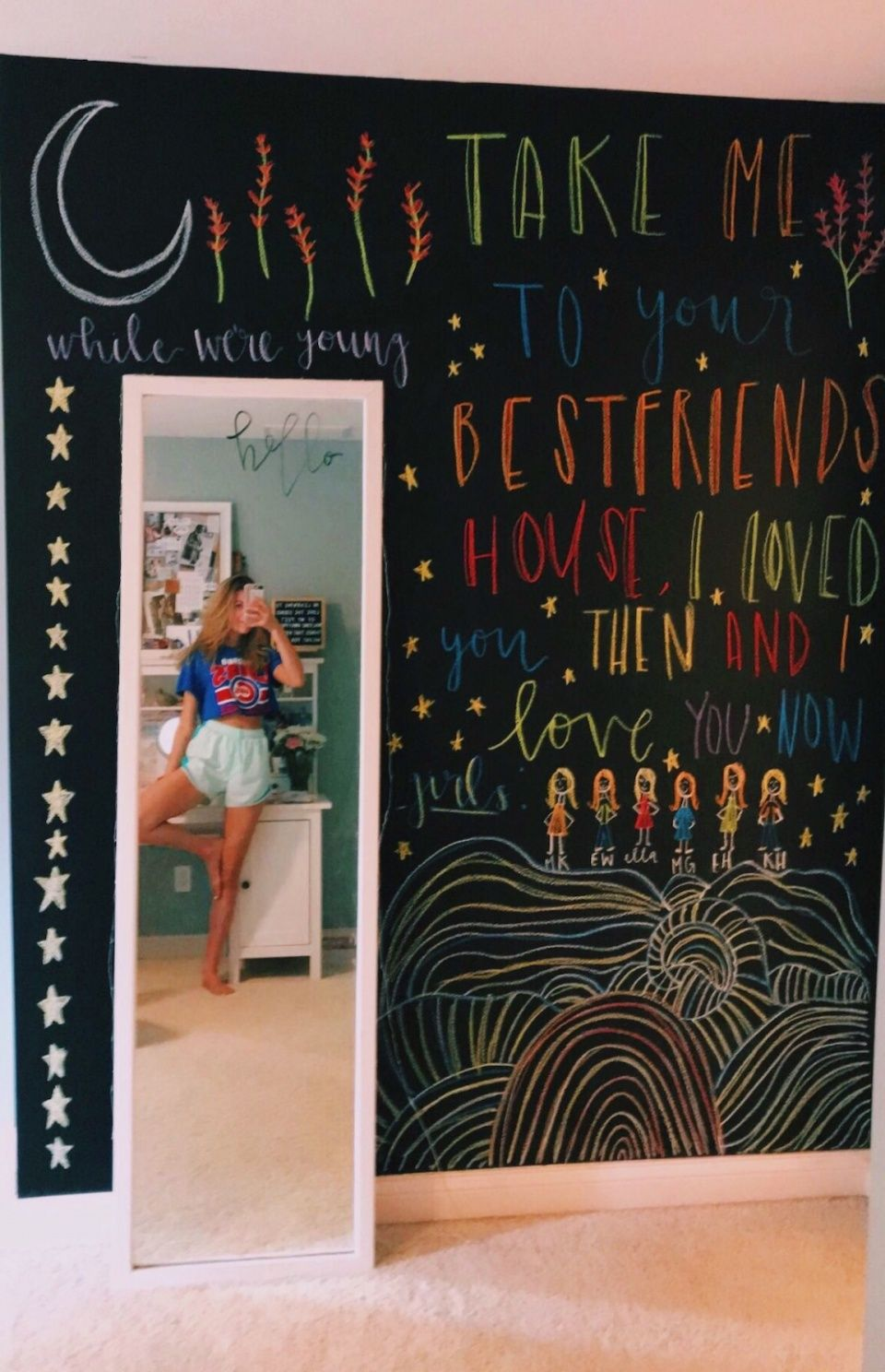 Vsco Teenthings Images Chalkboard Wall Bedroom Christmas