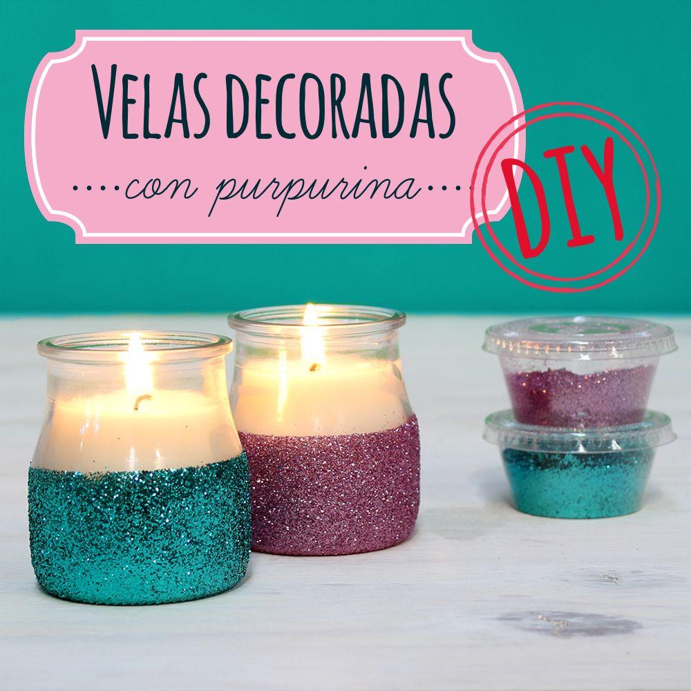 C mo hacer unas velas decoradas con purpurina aprende - Como hacer velas ...