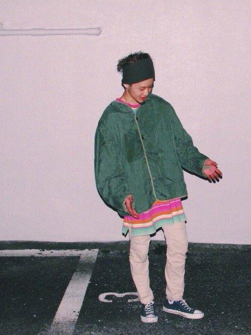 takuro_tanakaさんのナイロンジャケット「VINTAGE 」を使ったコーディネート