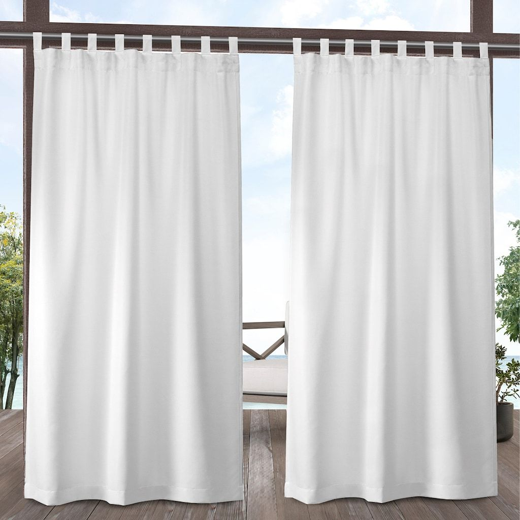 Exclusive Home 2 Pack Indoor Outdoor Solid Cabana Window Curtains White White Paneling Exclusive Homes Outdoor