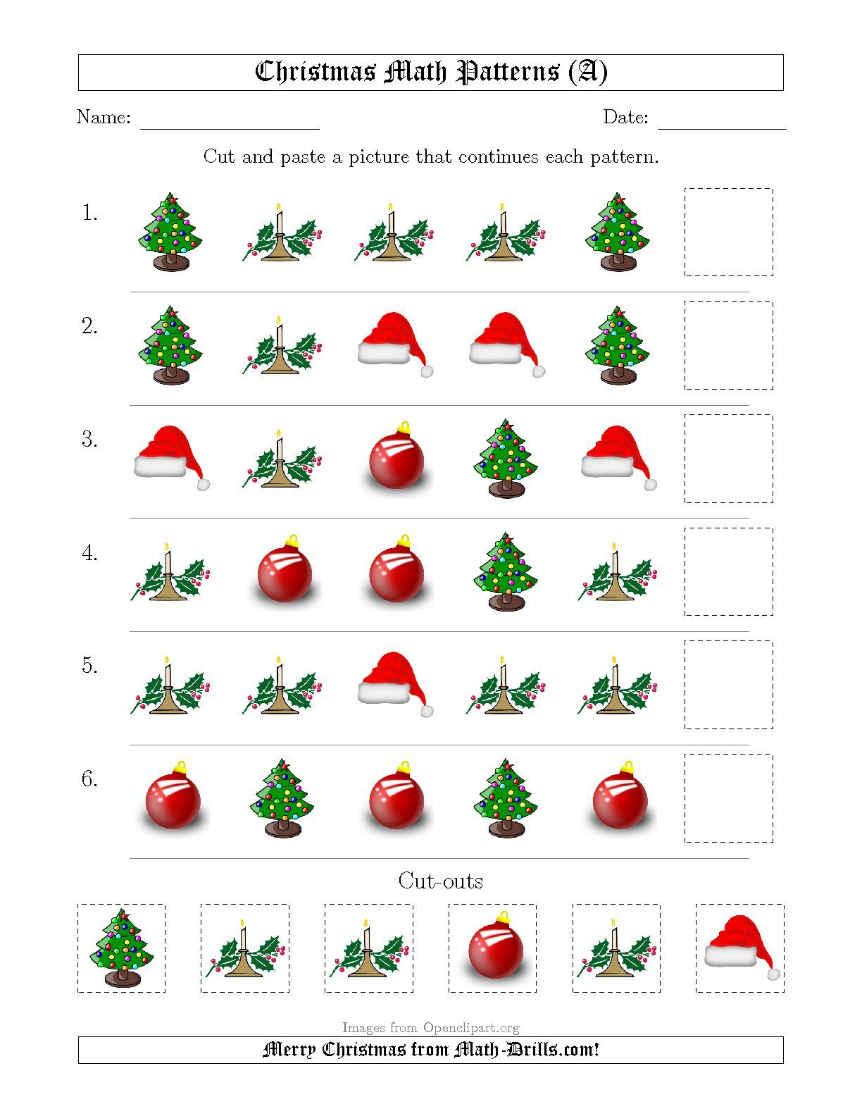 The Christmas Picture Patterns With Shape Attribute Only