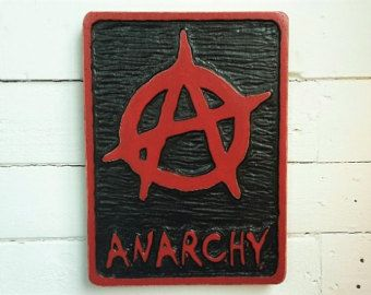 Anarchist Hand Carved Plaque Hand Carved Etsy Street Signs