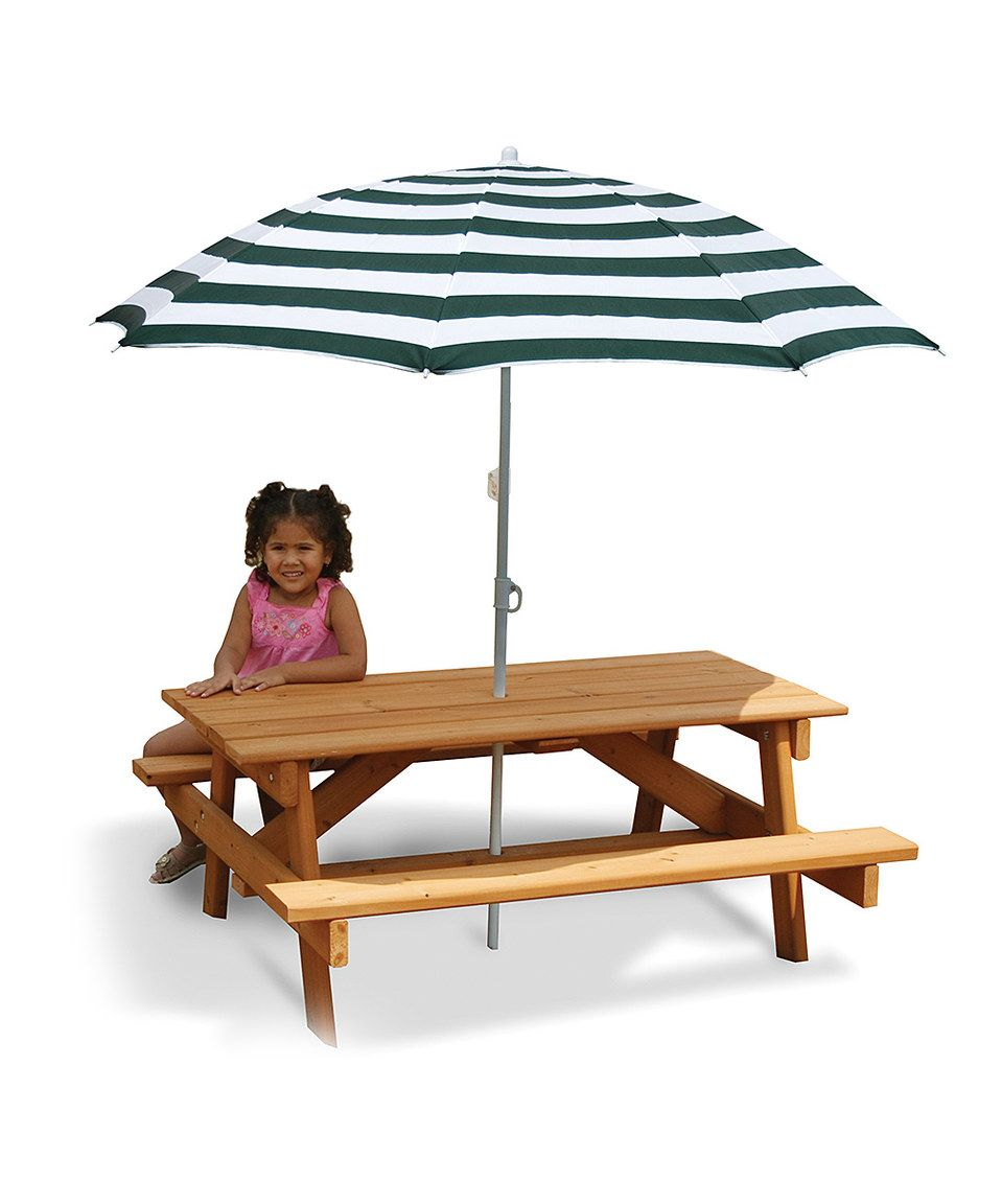 Take a look at this Children\u0027s Picnic Table \u0026 Umbrella today! | 1 ...