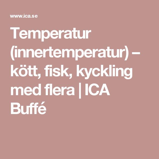 Temperatur (innertemperatur) – kött, fisk, kyckling med
